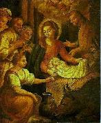 Bento Jose Rufino Capinam Birth of Christ oil on canvas