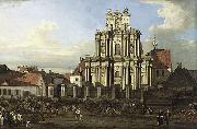 Bernardo Bellotto Visitationist Church in Warsaw oil painting reproduction