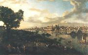 Bernardo Bellotto View of Warsaw from Praga oil painting reproduction
