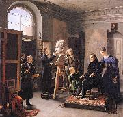 Carl Christian Vogel von Vogelstein Ludwig Tieck sitting to the Portrait Sculptor David dAngers oil on canvas
