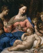 Carlo Maratta The Sleep of the Infant Jesus, with Musician Angels oil on canvas