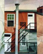 Charles Demuth Modern Conveniences oil on canvas