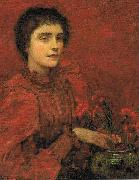 Charles W. Bartlett Study in Red oil on canvas