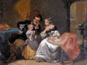 Charles van den Daele A happy family oil on canvas