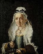 Circle of Fra Galgario Portrait of an Old Lady oil on canvas