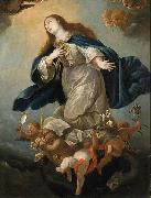 Circle of Mateo Cerezo the Younger Immaculate Virgin, formerly in the Chapel of Palacio de Penaranda, Spain oil on canvas