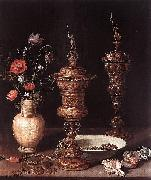 Clara Peeters Still-Life with Flowers and Goblets oil on canvas