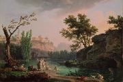 Claude Joseph Vernet Landscape in Italy oil on canvas