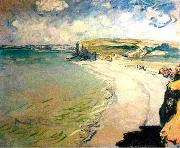 Claude Monet The Beach at Pourville oil painting reproduction