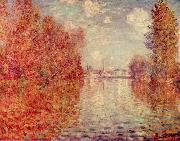 Claude Monet Herbst in Argenteuil painting