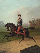 Constantin Lecca Portrait of a Romanian cavalry officer oil on canvas