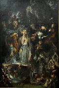 Cornelis Holsteyn Fantasy based on Goethe's Faust oil on canvas