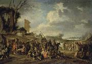 Cornelis de Wael A Camp by the Ruins oil on canvas
