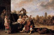 David Teniers the Younger The Painter and His Family oil painting reproduction
