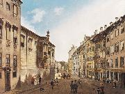 Domenico Quaglio The Residenzstrabe in front of the Max-Joseph-Platz in the year 1826 oil painting reproduction