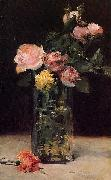 Edouard Manet Roses in a Glas Vase oil painting reproduction