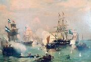 Eduardo de Martino Battle of Riachuelo oil painting