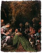 Follower of Jacopo da Ponte The Adoration of the Magi oil painting reproduction