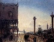 Friedrich Paul Nerly Piazza San Marco At Night oil