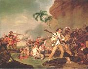 George Carter Death of Captain James Cook oil on canvas