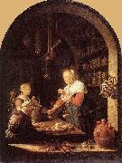 Gerard Dou The Grocer's Shop oil painting reproduction
