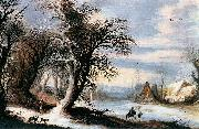 Gijsbrecht Leytens Winter Landscape oil painting reproduction