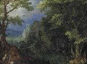 Gillis van Coninxloo Mountainous Landscape. oil on canvas
