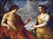 Giovanni Domenico Cerrini Apollo and the Cumaean Sibyl oil painting reproduction