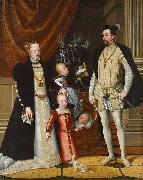 Giuseppe Arcimboldo Holy Roman Emperor Maximilian II. of Austria and his wife Infanta Maria of Spain with their children painting