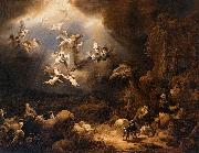 Govaert Flinck Angels Announcing the Birth of Christ to the Shepherds oil
