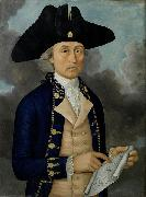 Guan Zuolin of Macao Portrait of Captain Joseph Huddart oil