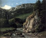 Gustave Courbet Stream in the Jura Mountains oil painting reproduction