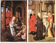 Hans Memling Wings of the Adoration of the Magi Triptych oil painting reproduction