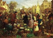 Henry Charles Bryant Market Day oil painting reproduction