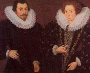Hieronimo Custodis Sir John Harington and his wfie oil on canvas