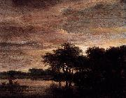 Jacob Isaacksz. van Ruisdael Woodland Scene with Lake oil