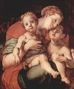 Jacopo Pontormo Madonna mit Johannes dem Taufer oil painting reproduction