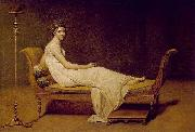 Jacques-Louis  David Portrait of Madame Recamier oil painting reproduction