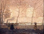 James Wilson Morrice Quai des Grands Augustins oil on canvas