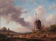 Jan Adam Kruseman Harvest Month painting