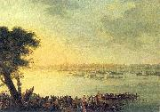 Jan Bogumil Plersch Catherine II leaving Kaniow in 1787. oil painting reproduction