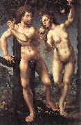 Jan Gossaert Mabuse Adam and Eve oil on canvas