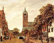 Jan van der Heyden View of Delft oil painting reproduction