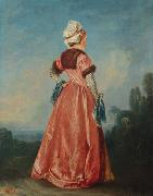 Jean-Antoine Watteau Polish Woman oil painting reproduction