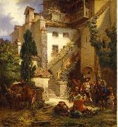 Johan Christoffer Boklund Marksmen in Merano oil on canvas