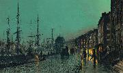John Atkinson Grimshaw Shipping on the Clyde oil painting reproduction