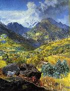 John Brett Val d'Aosta china oil painting artist