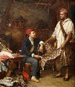 John Evan Hodgson The french naturalist in Algiers oil on canvas
