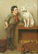 John George Brown His favorite pet painting