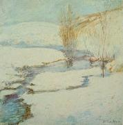 John Henry Twachtman Winter Landscape oil painting reproduction